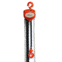palan manuel avec chaine hr long. 3 metres et crochets levage jusque 1500 kg