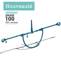 Systeme d arrimage Grade 100 HR 2 Parties chaine et tendeur diametre 13mm Long.3,5m TMU 134kN