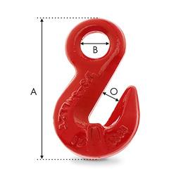 crochet raccourcisseur a oeil pour chaine dimensions