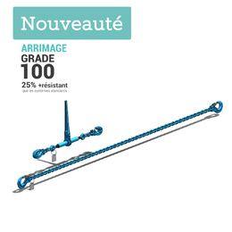 systeme arrimage G100 HR 2 parties avec chaine et tendeur a cliquet diam 8 a 13mm independants