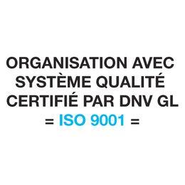 organisation avec systeme qualite certifie par dnv gl iso 9001