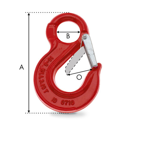 crochet a linguet a oeil G80 dimensions