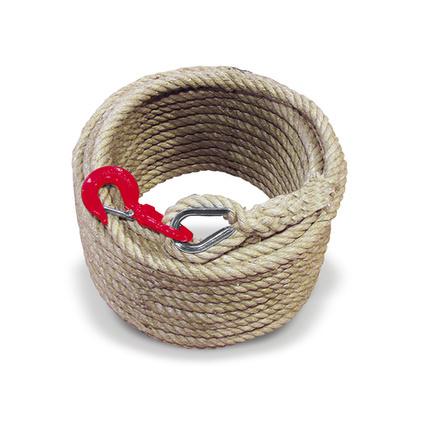 corde de levage a poulie avec crochet diametre 20 - 22 mm