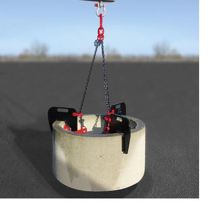 elingue chaine 3 brins leve buse et tuyau beton