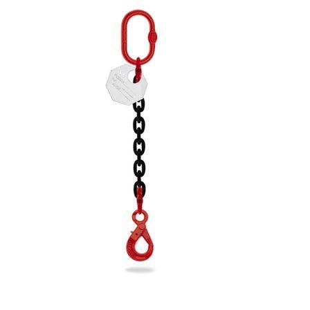 elingue chaine 1 brin crochet automatique diametre 6 mm a 8 mm charge 1 tonne a 2 tonnes longueur 2 metres